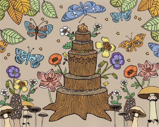 Woodland Celebration Cake - Print
