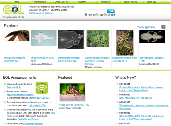 EOL Home Page