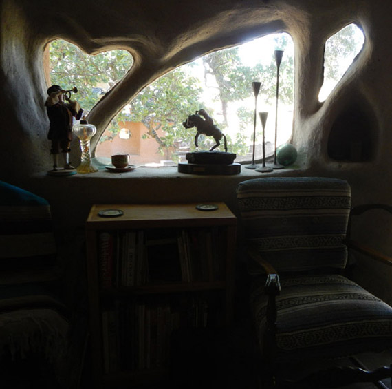 Shaped windows at Grandma Jackie's house